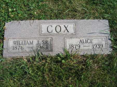 COX, ALICE - Lincoln County, South Dakota   ALICE COX - South Dakota Gravestone Photos