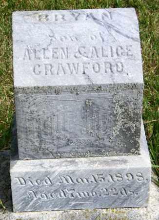CRAWFORD, BRYAN - Lincoln County, South Dakota | BRYAN CRAWFORD - South Dakota Gravestone Photos