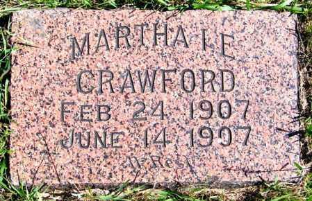 CRAWFORD, MARTHA I.E. - Lincoln County, South Dakota | MARTHA I.E. CRAWFORD - South Dakota Gravestone Photos