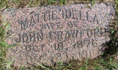 CRAWFORD, MATTIE IDELLA - Lincoln County, South Dakota | MATTIE IDELLA CRAWFORD - South Dakota Gravestone Photos