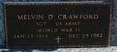 CRAWFORD, MELVIN D - Lincoln County, South Dakota | MELVIN D CRAWFORD - South Dakota Gravestone Photos