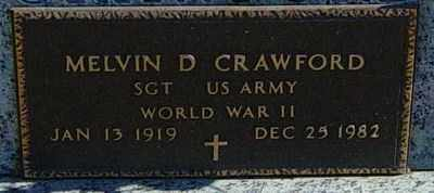 CRAWFORD, MELVIN D - Lincoln County, South Dakota | MELVIN D CRAWFORD - South Dakota Gravestone Photos