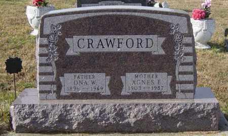 CRAWFORD, AGNES E - Lincoln County, South Dakota | AGNES E CRAWFORD - South Dakota Gravestone Photos