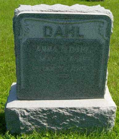 DAHL, ANNA P - Lincoln County, South Dakota | ANNA P DAHL - South Dakota Gravestone Photos