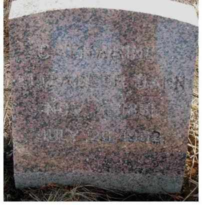 DANN, CATHARINE ELIZABETH - Lincoln County, South Dakota | CATHARINE ELIZABETH DANN - South Dakota Gravestone Photos