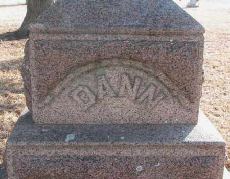 DANN, PLOT MARKER - Lincoln County, South Dakota | PLOT MARKER DANN - South Dakota Gravestone Photos
