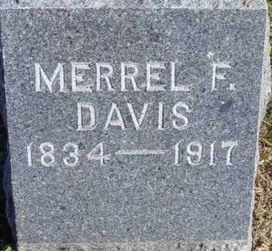 DAVIS, MERREL F - Lincoln County, South Dakota | MERREL F DAVIS - South Dakota Gravestone Photos