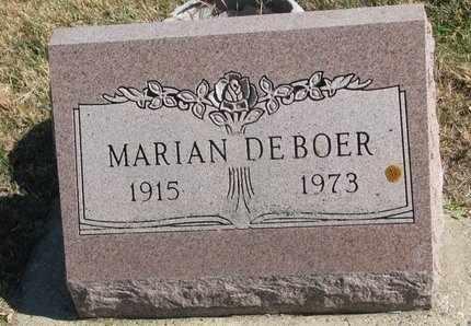 DE BOER, MARIAN - Lincoln County, South Dakota | MARIAN DE BOER - South Dakota Gravestone Photos