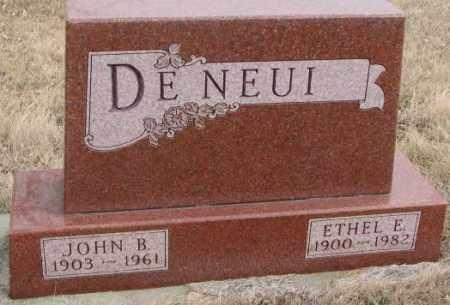 DE NEUI, JOHN B. - Lincoln County, South Dakota | JOHN B. DE NEUI - South Dakota Gravestone Photos