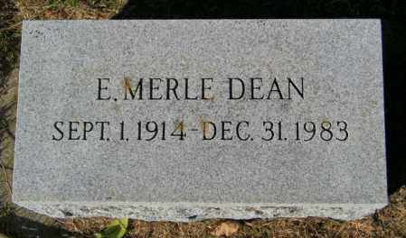 DEAN, E. MERLE - Lincoln County, South Dakota | E. MERLE DEAN - South Dakota Gravestone Photos