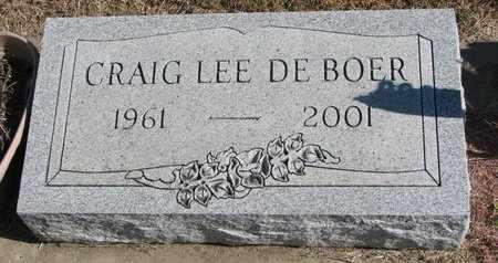DE BOER, CRAIG LEE - Lincoln County, South Dakota   CRAIG LEE DE BOER - South Dakota Gravestone Photos