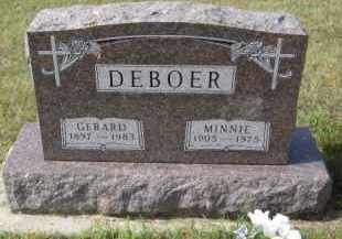 DEBOER, MINNIE - Lincoln County, South Dakota | MINNIE DEBOER - South Dakota Gravestone Photos