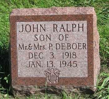 DE BOER, JOHN RALPH - Lincoln County, South Dakota | JOHN RALPH DE BOER - South Dakota Gravestone Photos