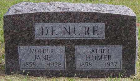 DENURE, JANE - Lincoln County, South Dakota | JANE DENURE - South Dakota Gravestone Photos
