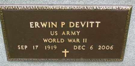 DEVITT, ERWIN P. (WW II) - Lincoln County, South Dakota   ERWIN P. (WW II) DEVITT - South Dakota Gravestone Photos