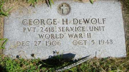DEWOLF, GEORGE H - Lincoln County, South Dakota | GEORGE H DEWOLF - South Dakota Gravestone Photos