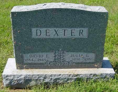 DEXTER, JULIA G - Lincoln County, South Dakota | JULIA G DEXTER - South Dakota Gravestone Photos