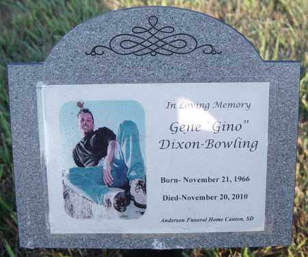 "DIXON-BOWLING, GENE ""GINO"" - Lincoln County, South Dakota 