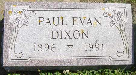 DIXON, PAUL EVAN - Lincoln County, South Dakota | PAUL EVAN DIXON - South Dakota Gravestone Photos