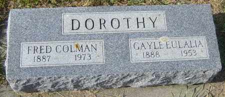 DOROTHY, GAYLE EULALIA - Lincoln County, South Dakota | GAYLE EULALIA DOROTHY - South Dakota Gravestone Photos