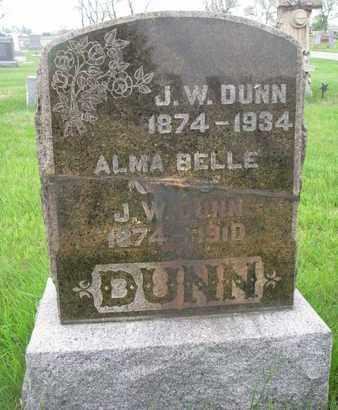 DUNN, J.W. - Lincoln County, South Dakota | J.W. DUNN - South Dakota Gravestone Photos