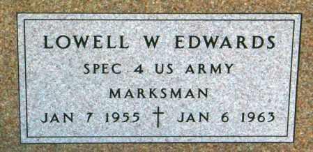 EDWARDS, LOWELL W. - Lincoln County, South Dakota | LOWELL W. EDWARDS - South Dakota Gravestone Photos