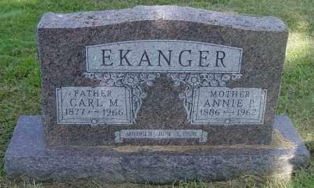 EKANGER, CARL M - Lincoln County, South Dakota | CARL M EKANGER - South Dakota Gravestone Photos