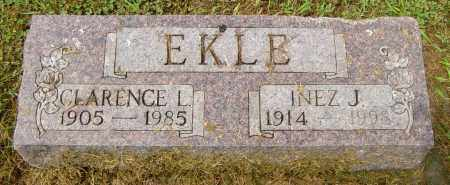 EKLE, INEZ J - Lincoln County, South Dakota | INEZ J EKLE - South Dakota Gravestone Photos