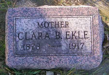 EKLE, CLARA B. - Lincoln County, South Dakota   CLARA B. EKLE - South Dakota Gravestone Photos