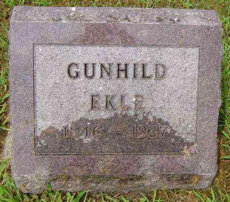 EKLE, GUNHILD - Lincoln County, South Dakota | GUNHILD EKLE - South Dakota Gravestone Photos