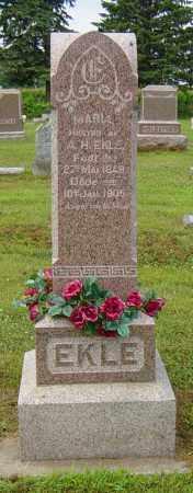 EKLE, MARIA - Lincoln County, South Dakota | MARIA EKLE - South Dakota Gravestone Photos