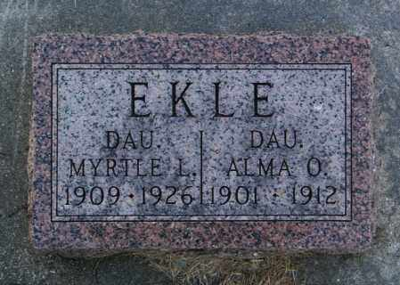 EKLE, ALMA O. - Lincoln County, South Dakota | ALMA O. EKLE - South Dakota Gravestone Photos
