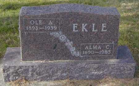 EKLE, OLE A - Lincoln County, South Dakota | OLE A EKLE - South Dakota Gravestone Photos