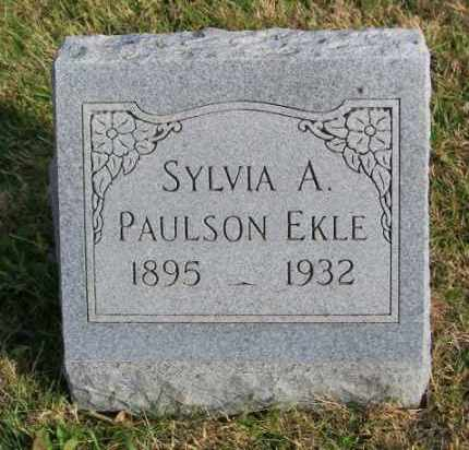 PAULSON EKLE, SYLVIA A. - Lincoln County, South Dakota | SYLVIA A. PAULSON EKLE - South Dakota Gravestone Photos