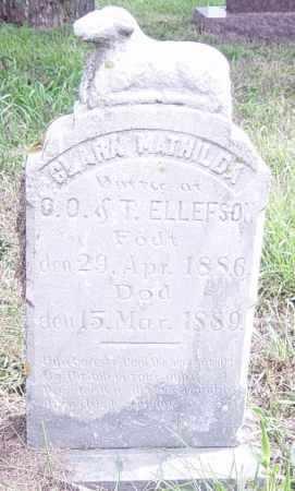 ELLEFSON, CLARA MATHILDA - Lincoln County, South Dakota | CLARA MATHILDA ELLEFSON - South Dakota Gravestone Photos