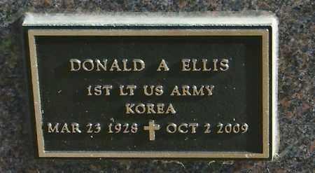 ELLIS, DONALD A - Lincoln County, South Dakota   DONALD A ELLIS - South Dakota Gravestone Photos