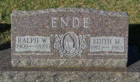 ENDE, EDITH M. - Lincoln County, South Dakota   EDITH M. ENDE - South Dakota Gravestone Photos