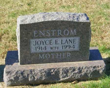 LANE ENSTROM, JOYCE E - Lincoln County, South Dakota | JOYCE E LANE ENSTROM - South Dakota Gravestone Photos