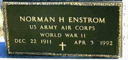 ENSTROM, NORMAN H - Lincoln County, South Dakota | NORMAN H ENSTROM - South Dakota Gravestone Photos