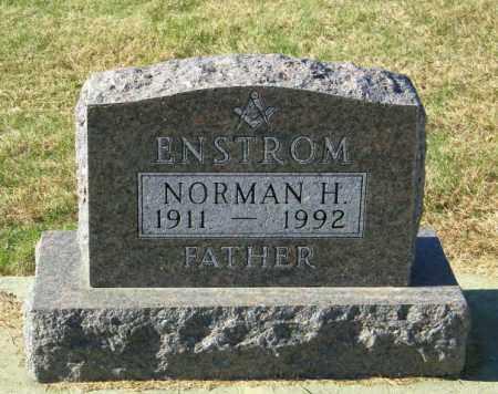 ENSTROM, NORMAN H - Lincoln County, South Dakota   NORMAN H ENSTROM - South Dakota Gravestone Photos