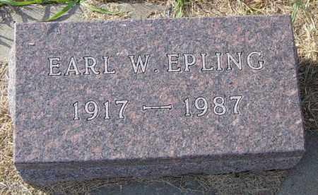 EPLING, EARL W - Lincoln County, South Dakota | EARL W EPLING - South Dakota Gravestone Photos