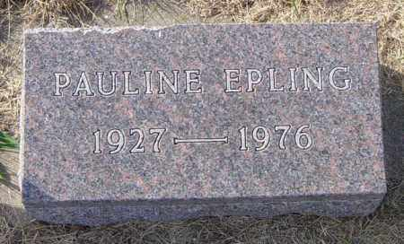 EPLING, PAULINE - Lincoln County, South Dakota   PAULINE EPLING - South Dakota Gravestone Photos