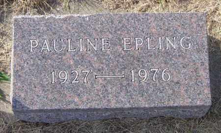 EPLING, PAULINE - Lincoln County, South Dakota | PAULINE EPLING - South Dakota Gravestone Photos