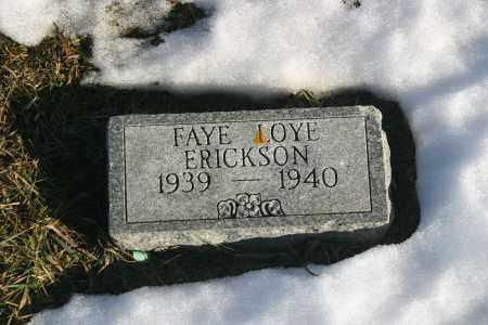 ERICKSON, FAYE - Lincoln County, South Dakota   FAYE ERICKSON - South Dakota Gravestone Photos