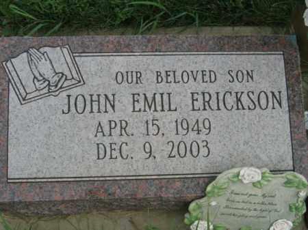 ERICKSON, JOHN EMIL - Lincoln County, South Dakota | JOHN EMIL ERICKSON - South Dakota Gravestone Photos
