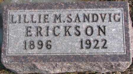 SANDVIG ERICKSON, LILLIE M. - Lincoln County, South Dakota | LILLIE M. SANDVIG ERICKSON - South Dakota Gravestone Photos