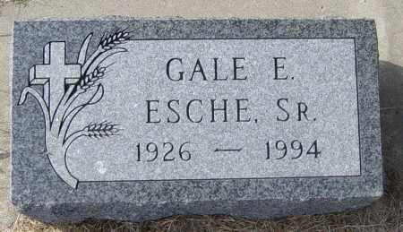 ESCHE SR, GALE E - Lincoln County, South Dakota   GALE E ESCHE SR - South Dakota Gravestone Photos