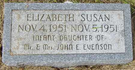 EVENSON, ELIZABETH SUSAN - Lincoln County, South Dakota | ELIZABETH SUSAN EVENSON - South Dakota Gravestone Photos