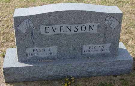 EVENSON, EVEN J - Lincoln County, South Dakota | EVEN J EVENSON - South Dakota Gravestone Photos