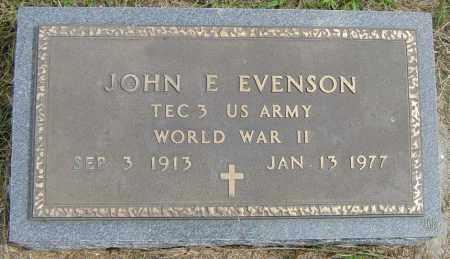 EVENSON, JOHN E - Lincoln County, South Dakota   JOHN E EVENSON - South Dakota Gravestone Photos